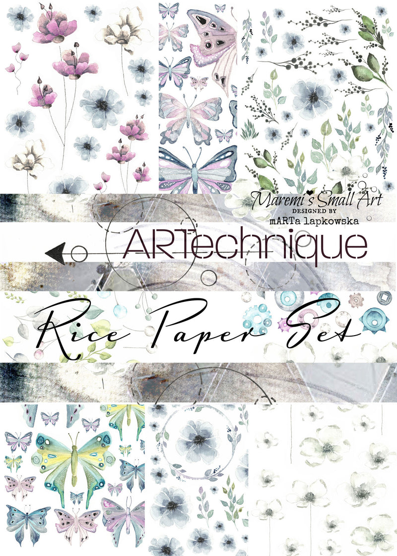 8 Maremi's Rice Papers 'ARTechnique' Collection Set