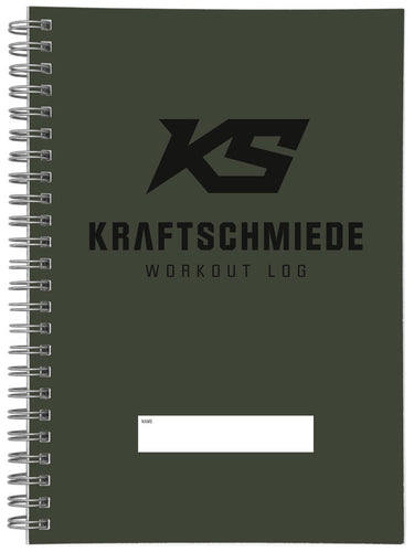 KRAFTSCHMIEDE® Workout Log (Oliv)