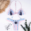 Lace with Beads Bikini Set