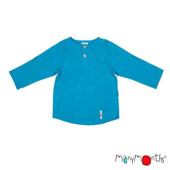 ECO Hempies Longsleeve Summer Shirt aquarius - ManyMonth MaMidea