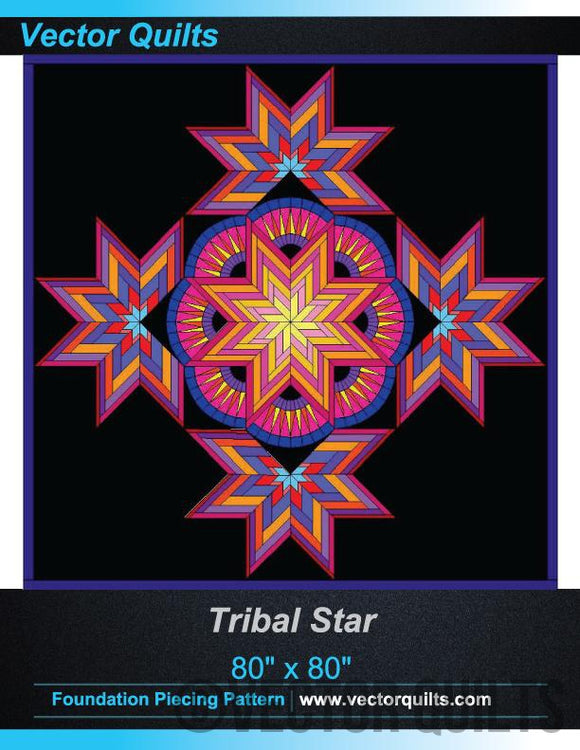 Tribal Star Foundation Pattern  - RediRemove
