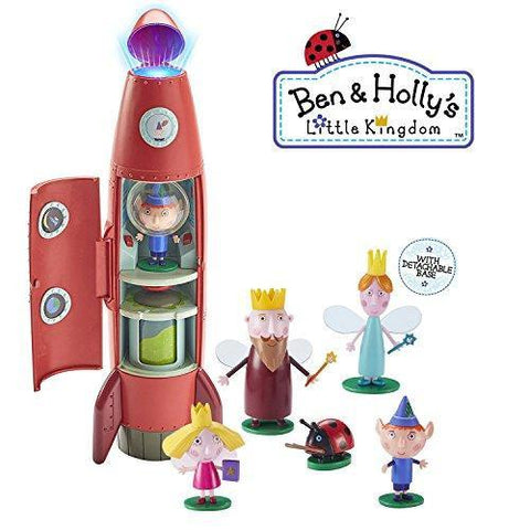 Ben & Holly Little Kingdom Elf Rocket Playset With Sounds And 6 Figures Gift Set