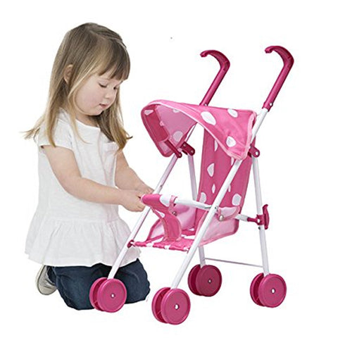 Baby Doll Foldable Stroller For Up To 40cm Dolls