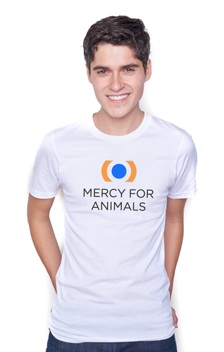 Mercy For Animals Logo T - White | ShopMFA.com