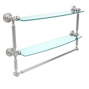 "Allied Brass 24""x5"" Dble Shelf w/Towel Bar Polished Chrome"