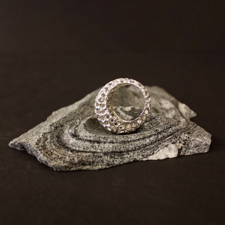 Urchin Ring  #8108 Silver by Lana Kova