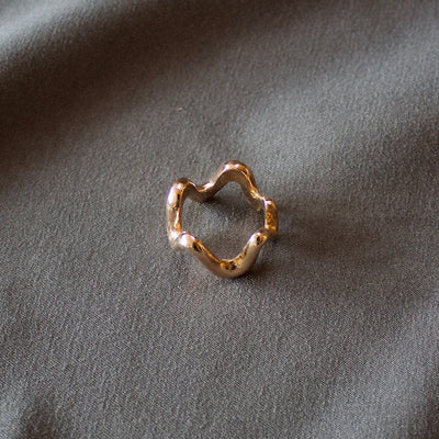 Free Line Ring 18k Rose Gold Ring # 8301