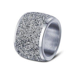 Effie Queen Silver/Rose Gold Color Stainless Steel Ring 878 | Foofster LLC