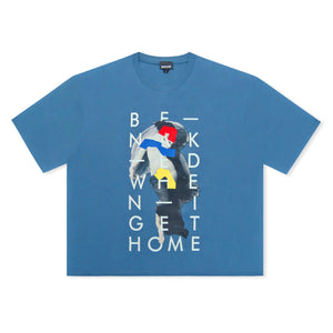 Blue Just Cavalli Be Naked When I Get Home Logo T-Shirt