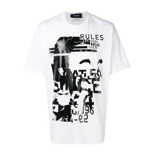 White Dsquared2 Rules Print T-shirt