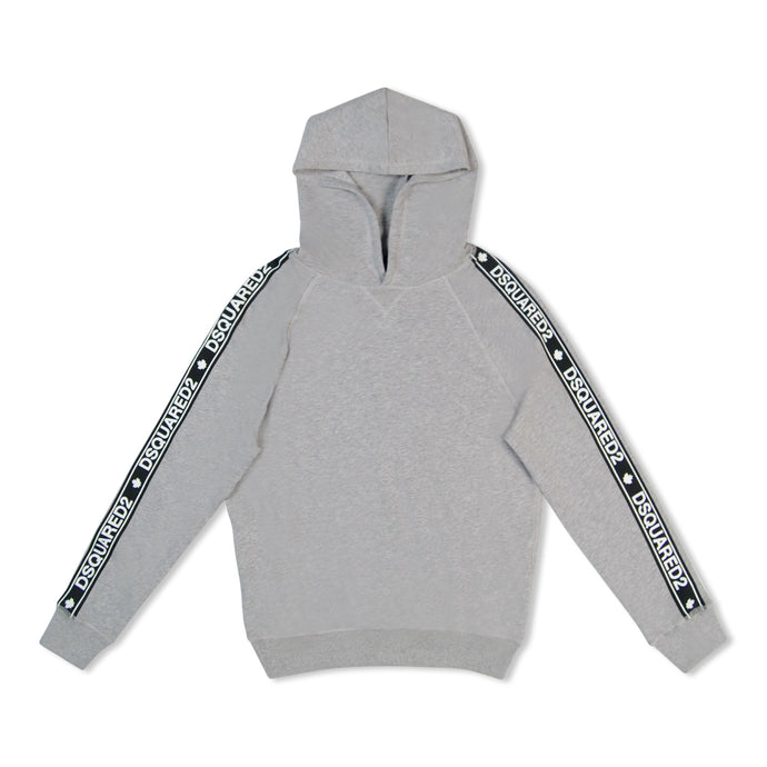 Grey Dsquared2 Side Stripe Hoodie