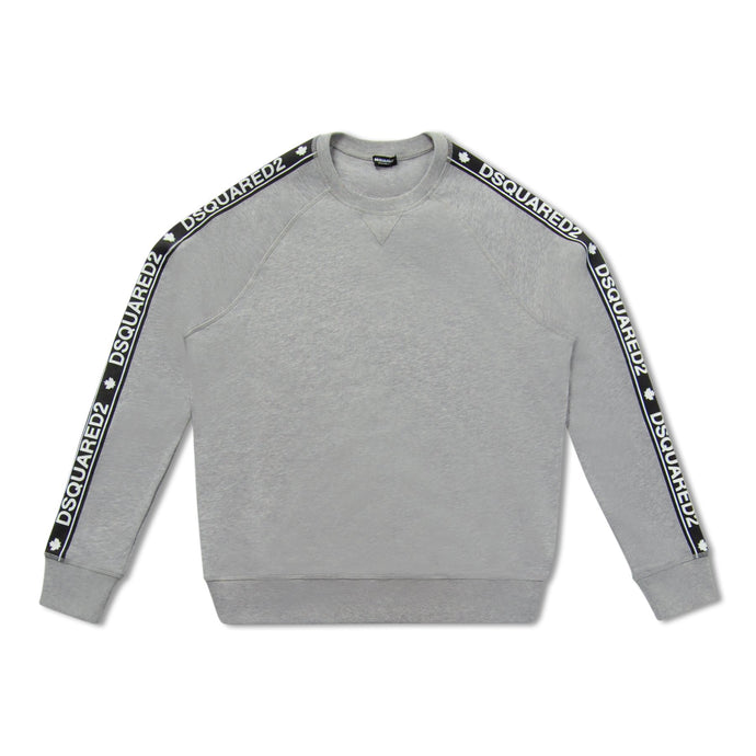 Grey Dsquared2 Arm Stripe Sweatshirt