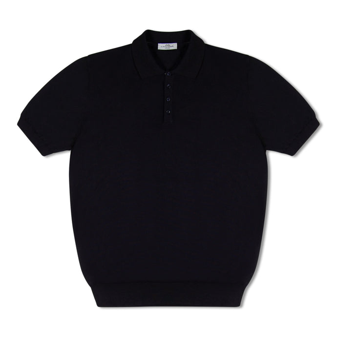 Blue Untitled Atelier Knitted SS Polo
