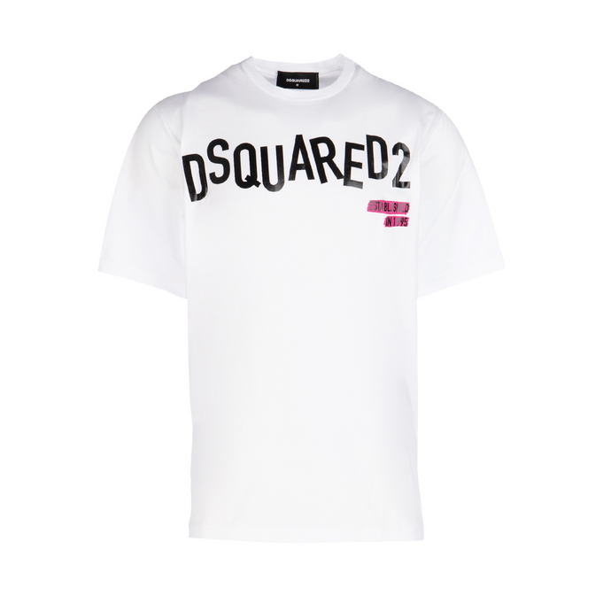White Dsquared2 Scattered Logo T-Shirt