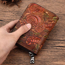 Load image into Gallery viewer, Carmelita Embossed Leather Wallet