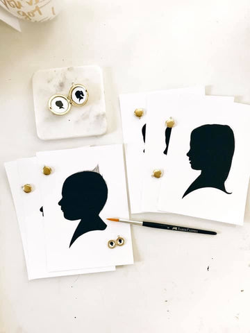 Custom silhouette art of child, when is the best time to get a child's silhouette done