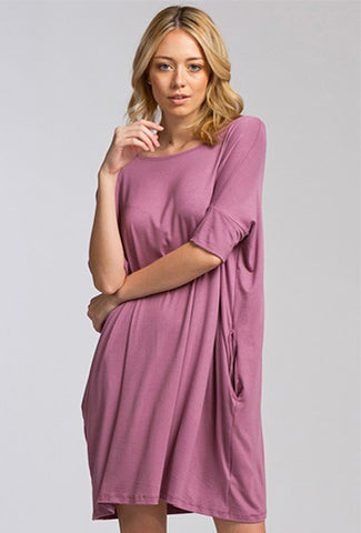 Hanging Out in Mauve Dress