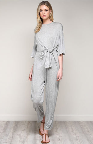 Heather Tied Jumpsuit