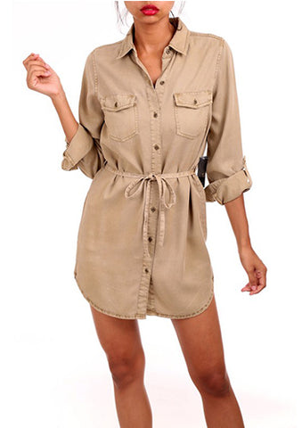 Khaki Safari Dress