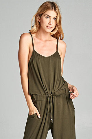 Turning Heads Olive Jumpsuit