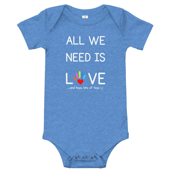 YDKM KIDS - All We Need Is Love - (Unisex) Baby One Piece {3 Colors}