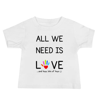 YDKM KIDS - All We Need Is Love - (Unisex) Baby Jersey Short Sleeve Tee {3 Colors}