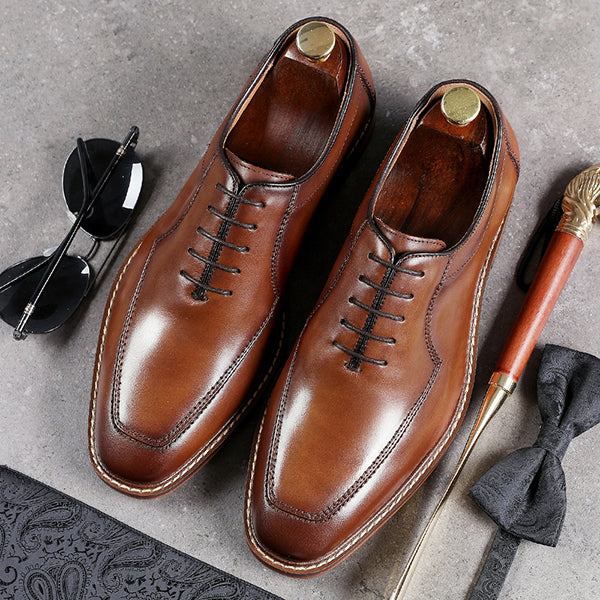 Handmade Calf Leather Oxford Shoes