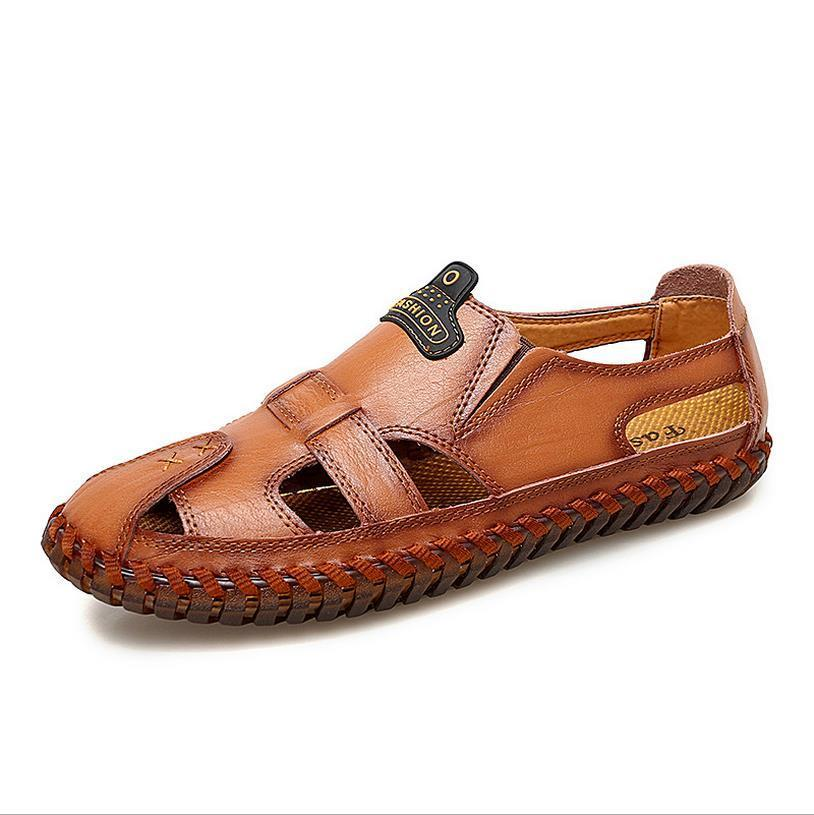 Large Size Genuine Leather  casual Sandals
