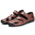 Large Size Adjustable Heel Strap Outdoor Leather Sandals