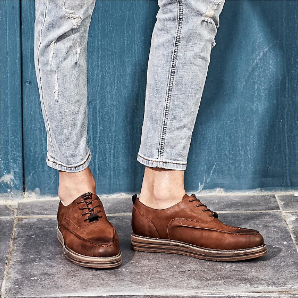 Cowboy Style Casual  Leather Shoes