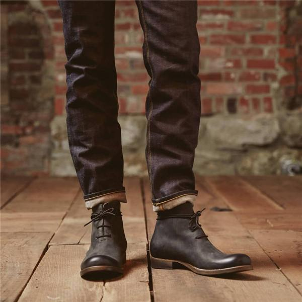 Men Chukka Genuine Leather Boots