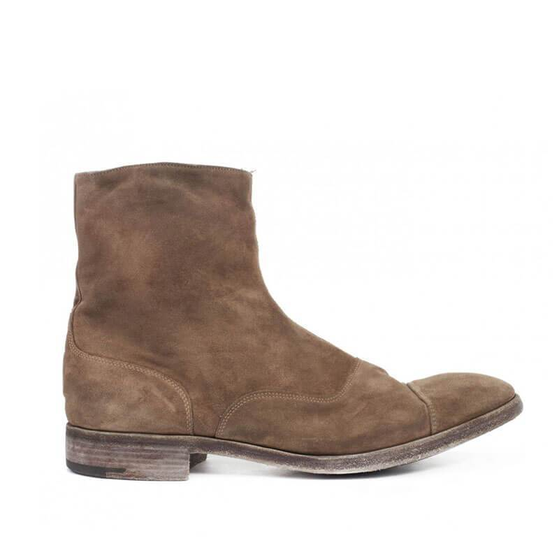 Men Zipped Suede Boots