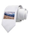 Pikes Peak CO Mountains Printed White Necktie