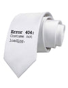 Error 404 Costume Printed White Necktie