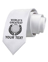 Personalized Worlds Greatest Printed White Necktie