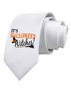 It's Halloween Witches Hat Printed White Necktie