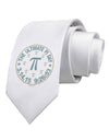 The Ultimate Pi Day Emblem Printed White Necktie