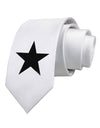 Black Star Printed White Neck Tie Tooloud