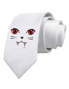 Vamp Kitty Printed White Necktie