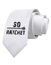 So Ratchet Printed White Necktie