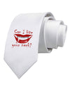 Bite your neck Printed White Necktie