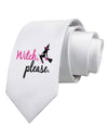 Witch Please Printed White Necktie