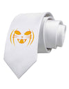 Cat-O-Lantern Printed White Necktie