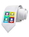 Clown Face Pop Art 2 Printed White Necktie