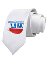 Sloth Political Party Symbol Printed White Necktie