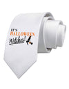 It's Halloween Witches Printed White Necktie