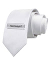 Namsayin Text Bubble Printed White Necktie