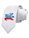 Unicorn Political Symbol Printed White Necktie