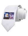 All American Eagle Printed White Necktie