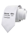 Error 404 Costume Distressed Printed White Necktie